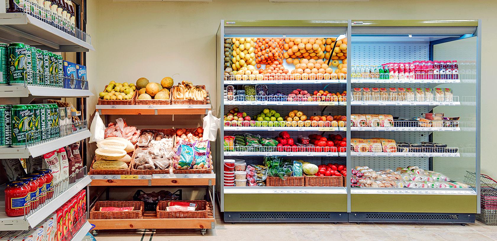 Оснащени холодильным оборудованием магазина Перекресток Экспресс