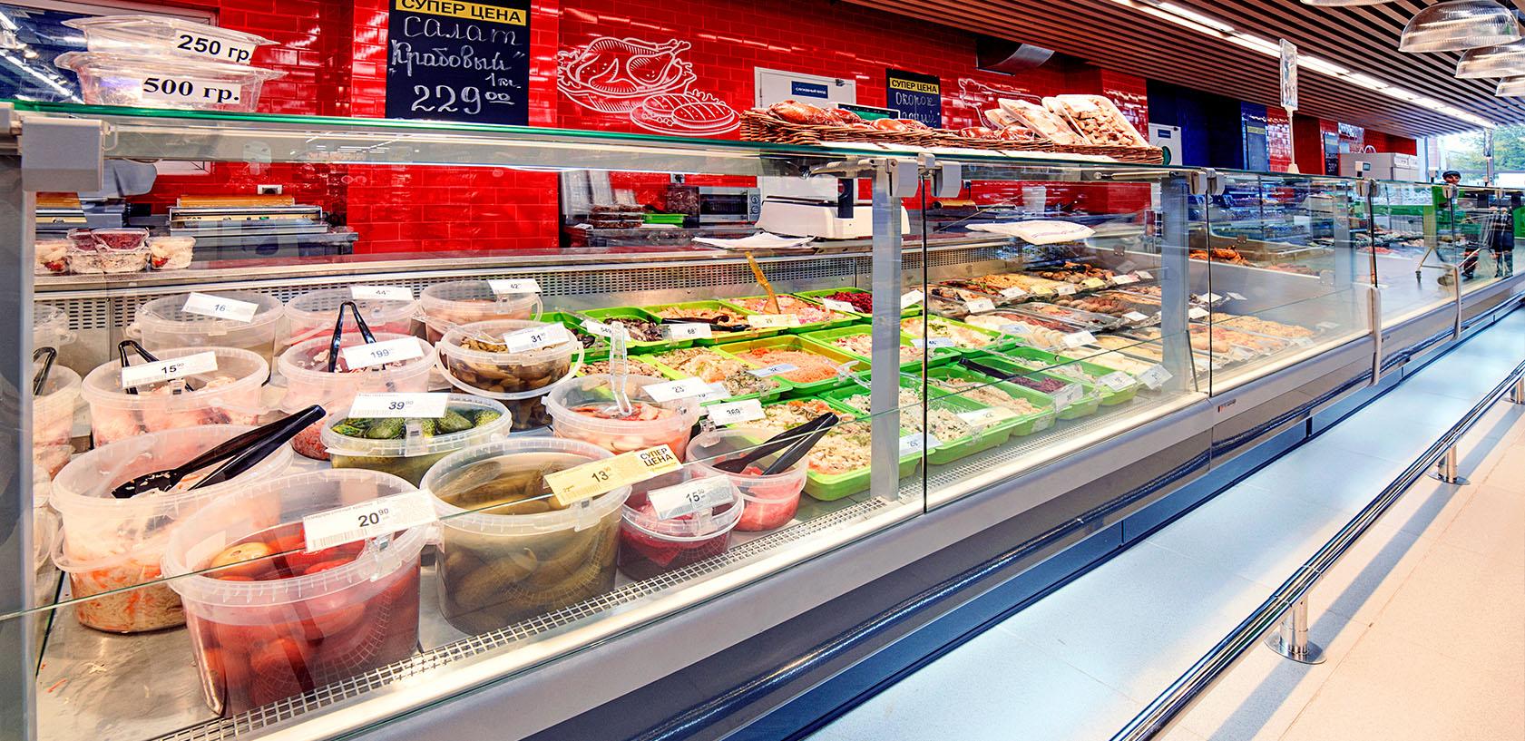 Холодильное оборудование для супермаркета Зеленый перекресток Ярославль от компании Brandford