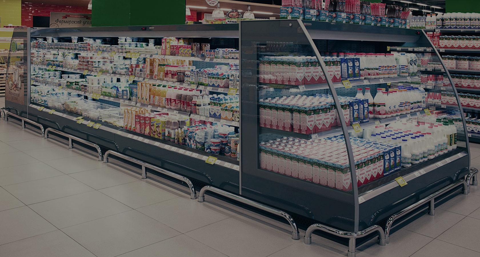 Холодильные горки в супермаркете перекресток, Владимир